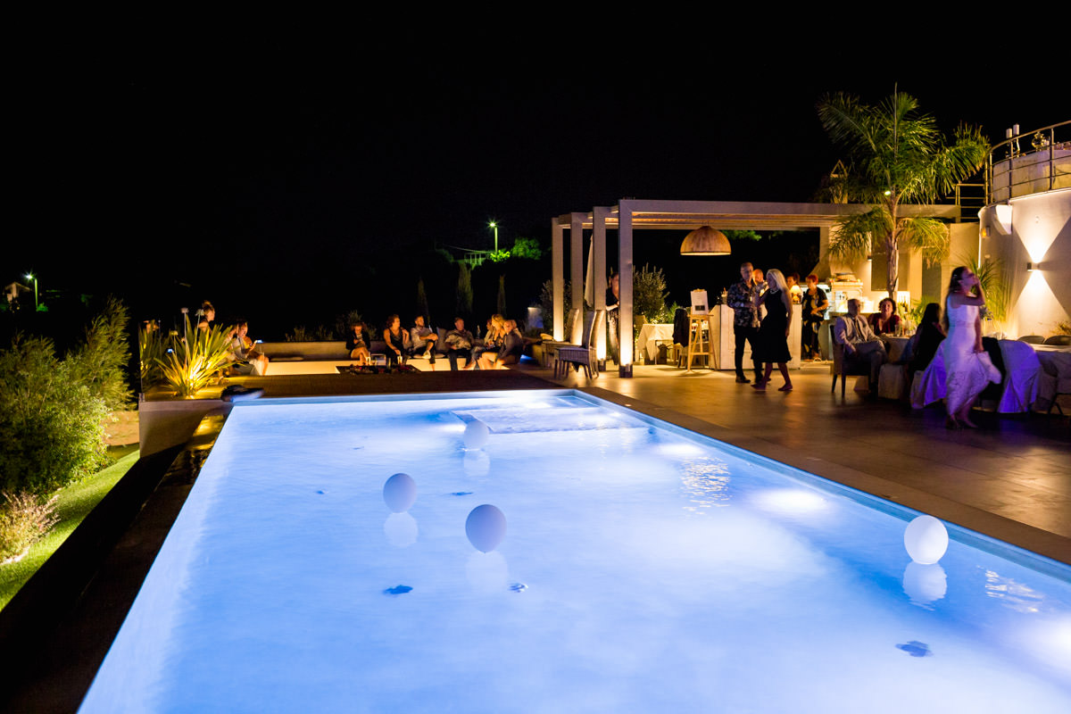 Crete wedding venue with pool