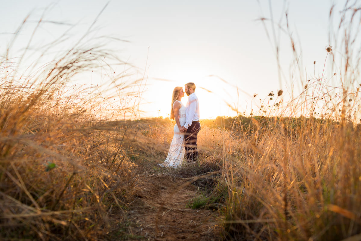 wedding photo-shoot during sunrise