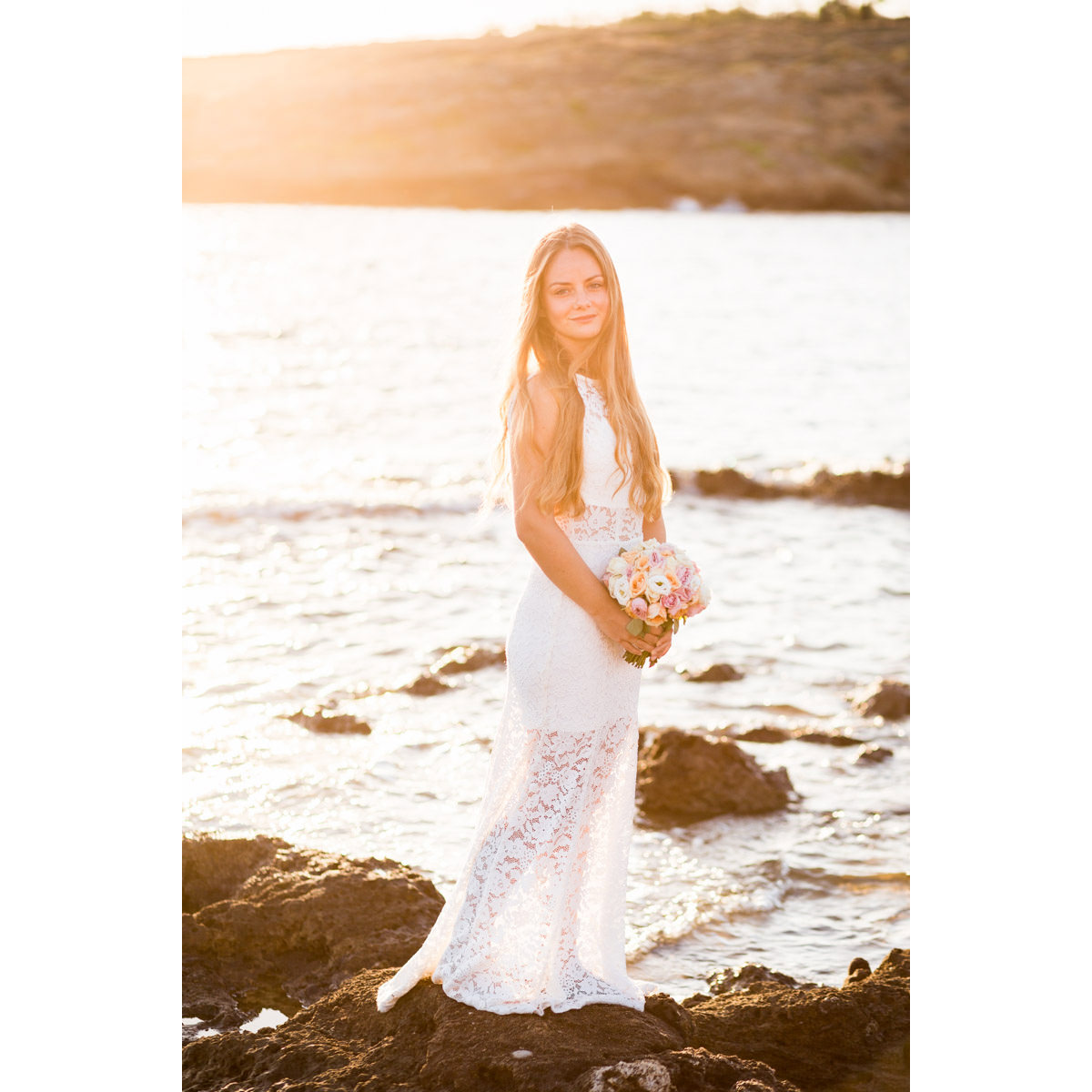 bridal portrait Crete