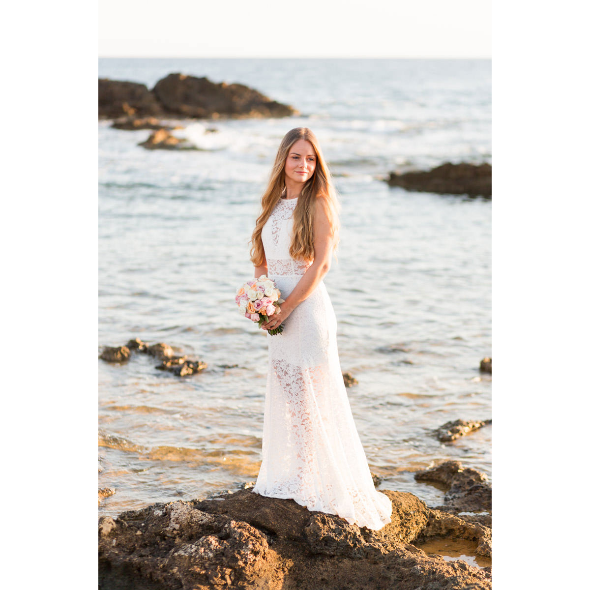 bridal portrait in Crete