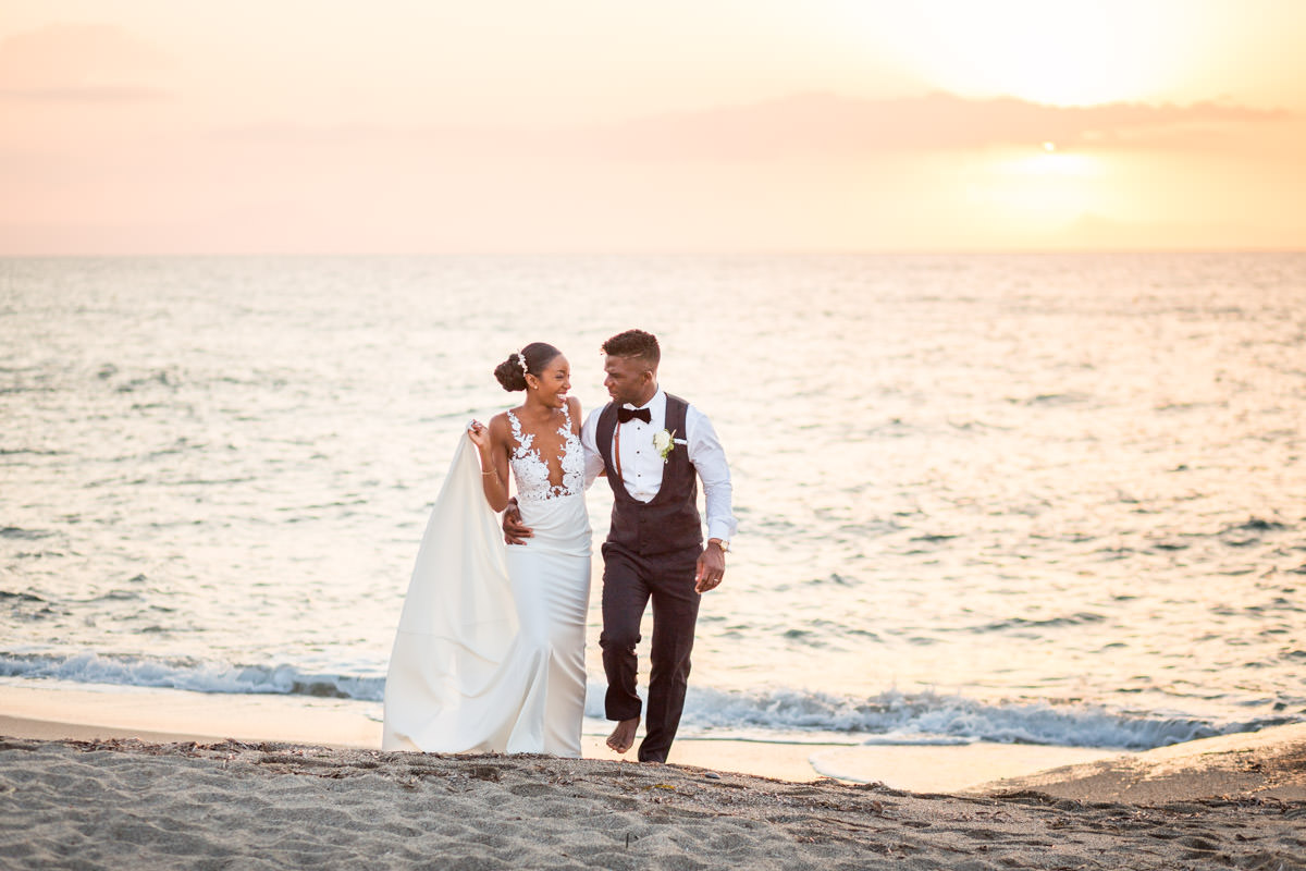 wedding portraits during the sunset