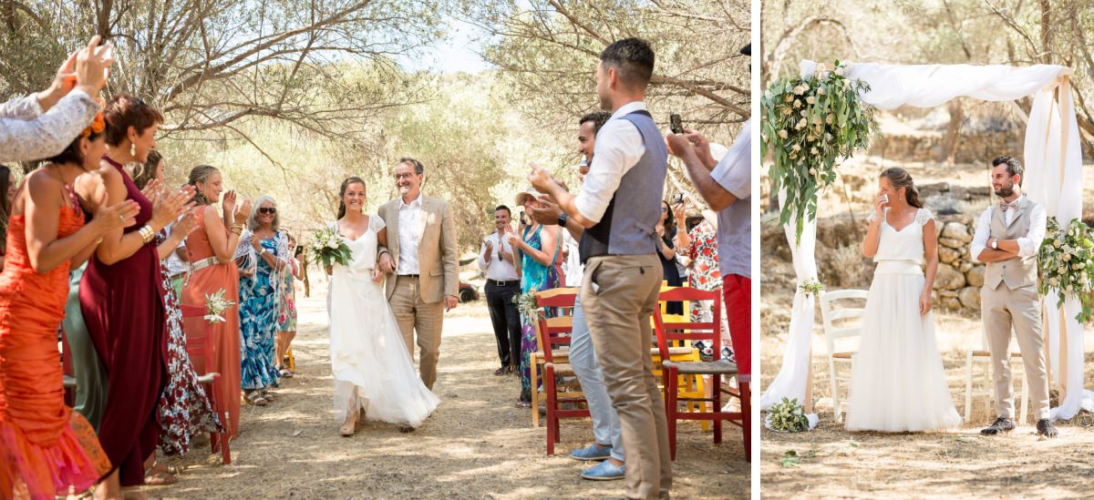 walking down the aisle in Crete