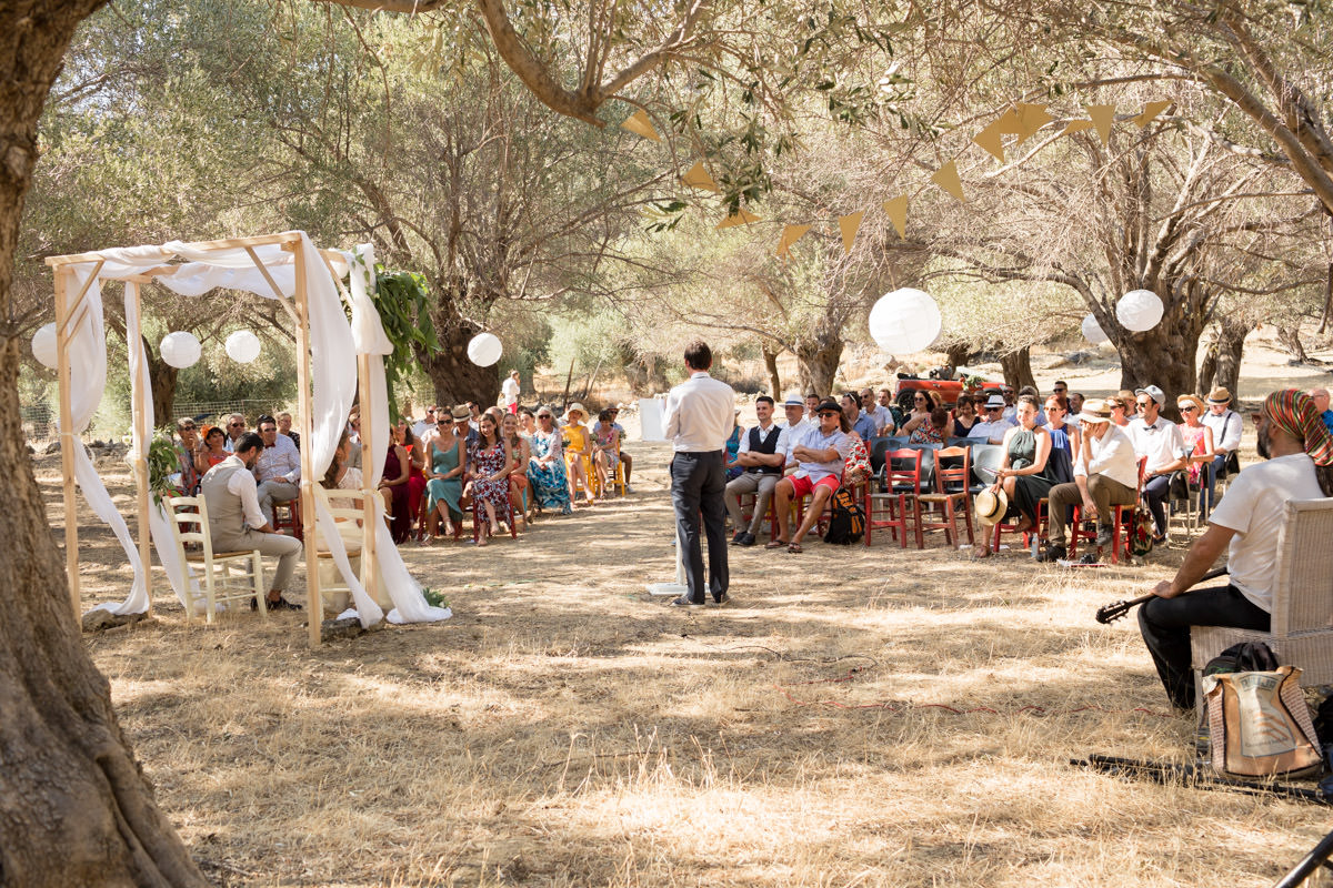 guests on a wedding in Crete