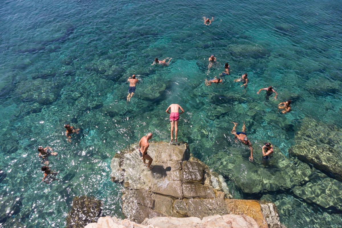 pre-wedding beach party in Greece