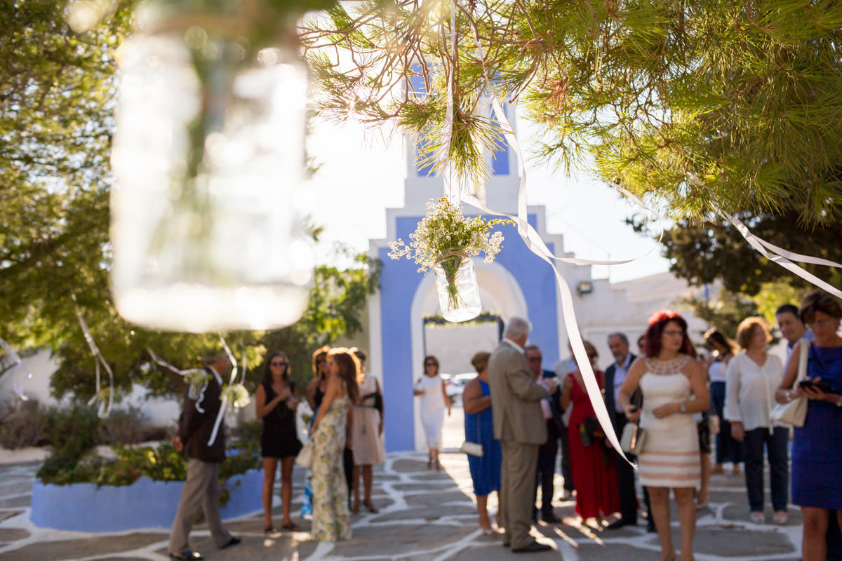 wedding decoration in Kea, Greece