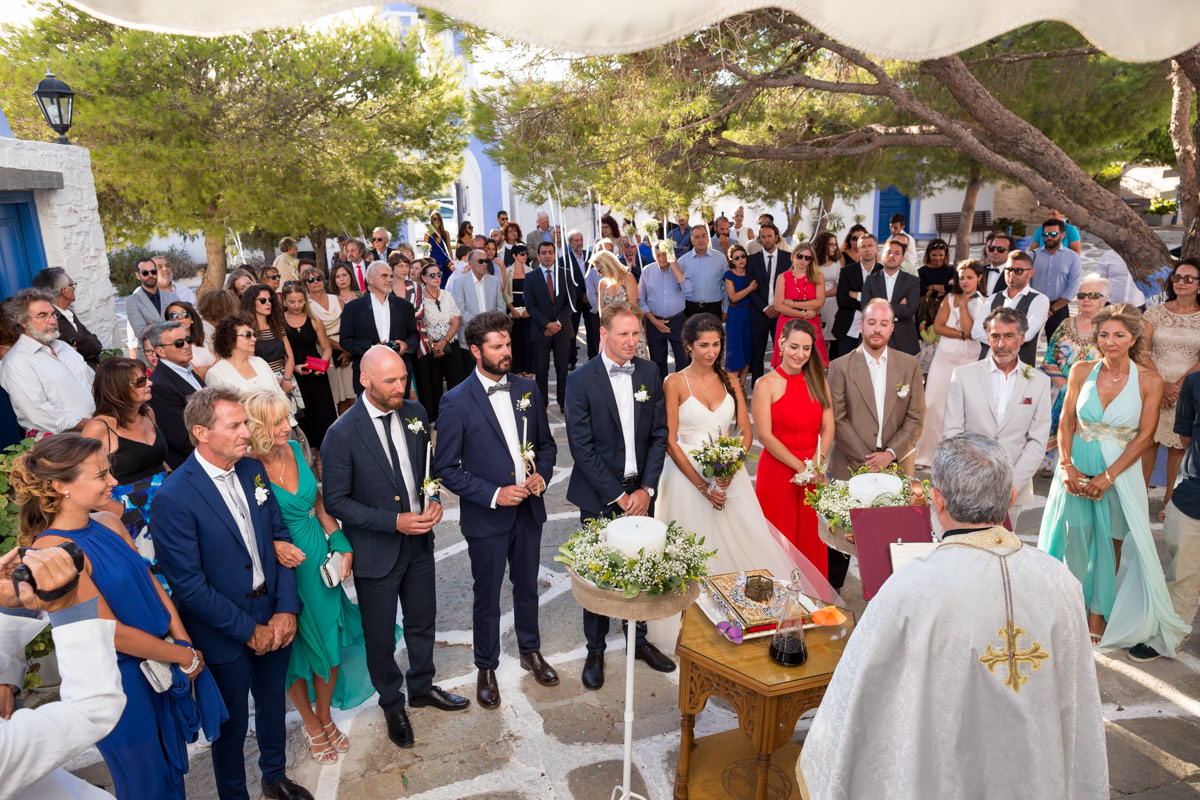wedding in Kastriani in Kea, Greece