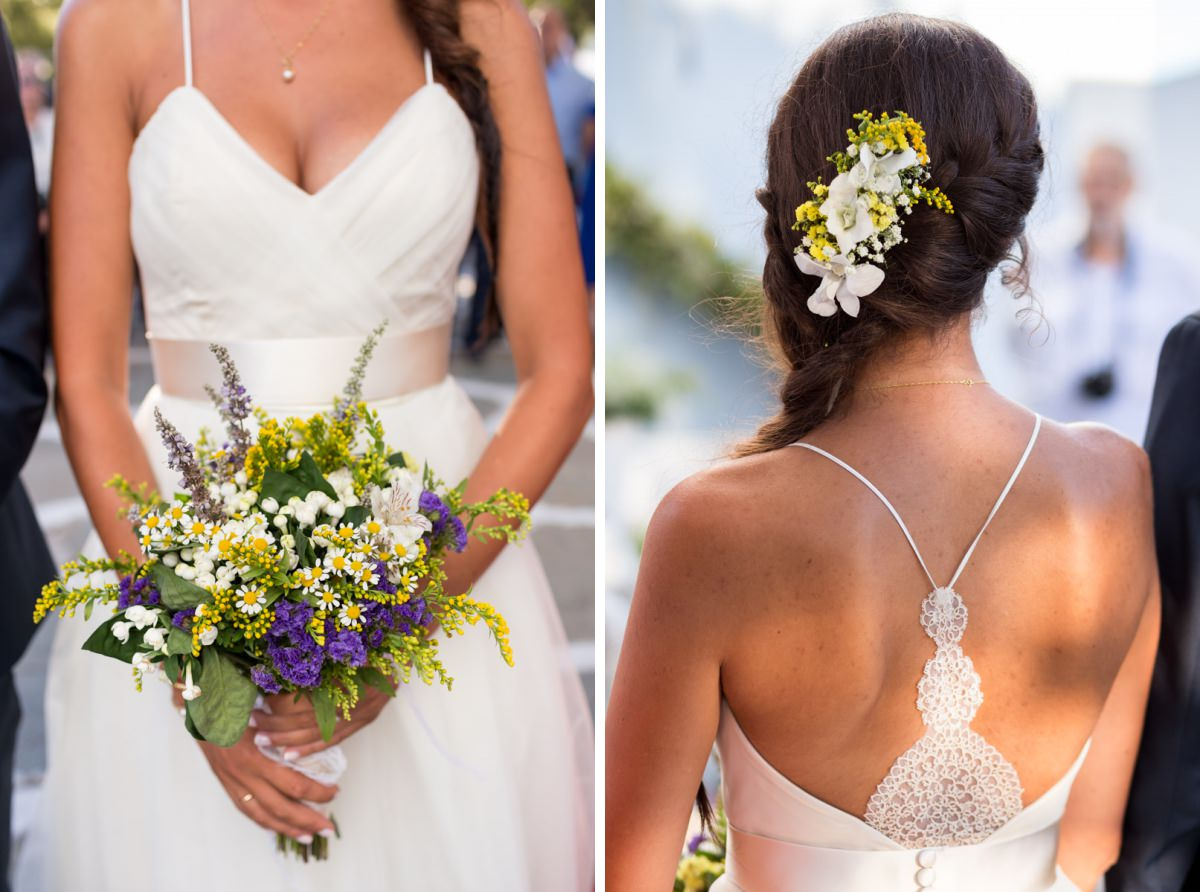 wedding bouquet in Greece