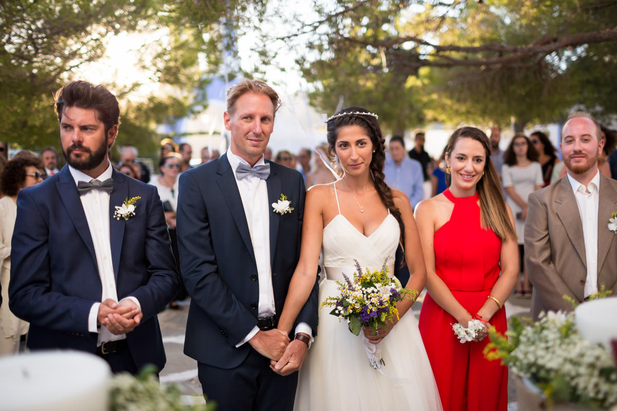 wedding ceremony in Kea, Greece