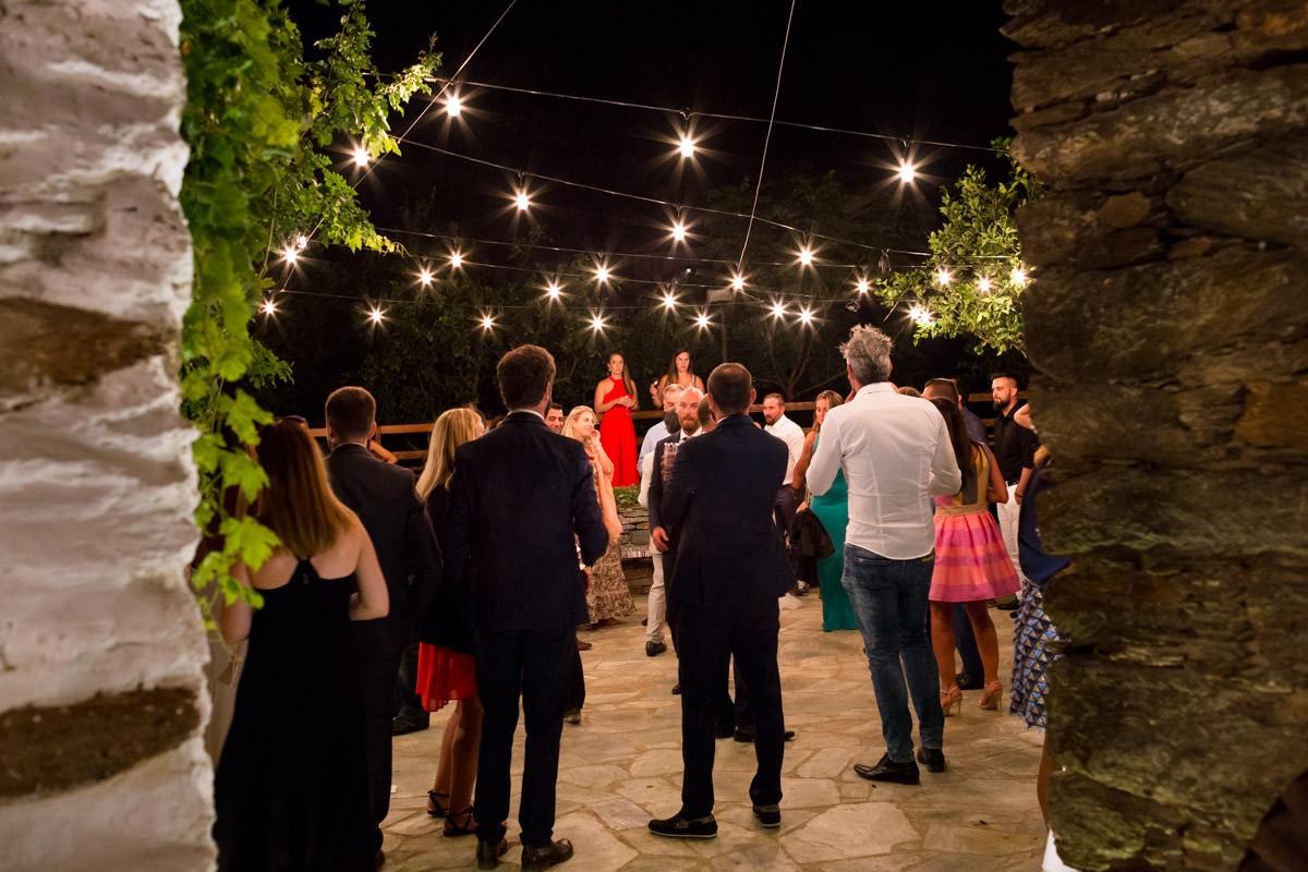 wedding reception in Kea