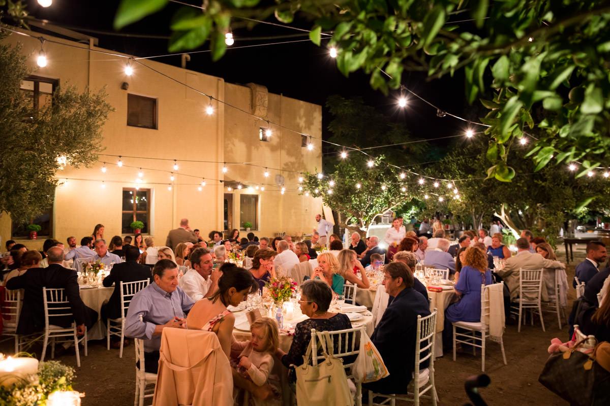 wedding reception and dinner on a greek island