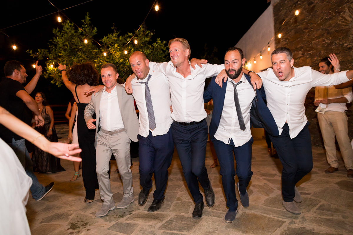 Greek dance on a wedding party