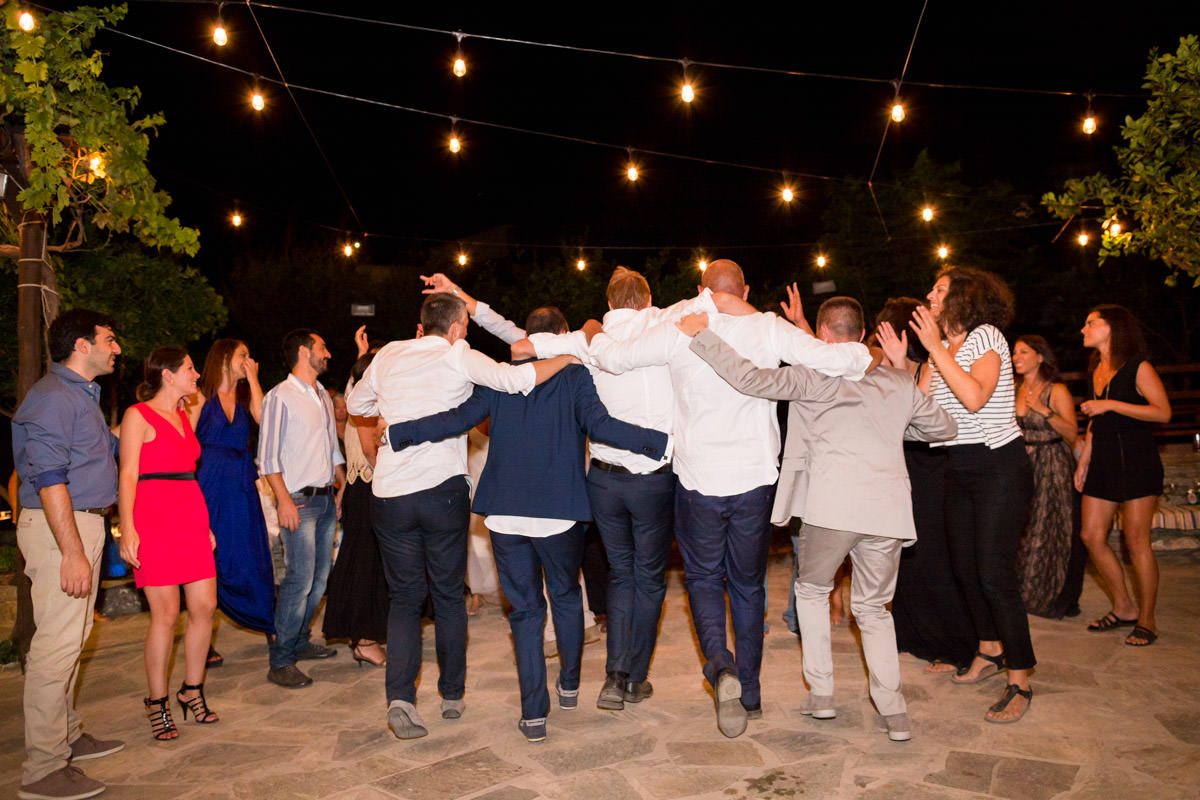 zorbas dance on a wedding party