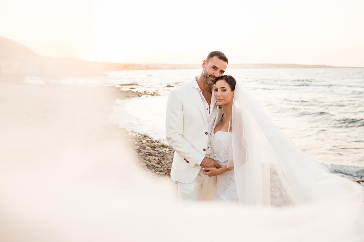 wedding portraits by the sea