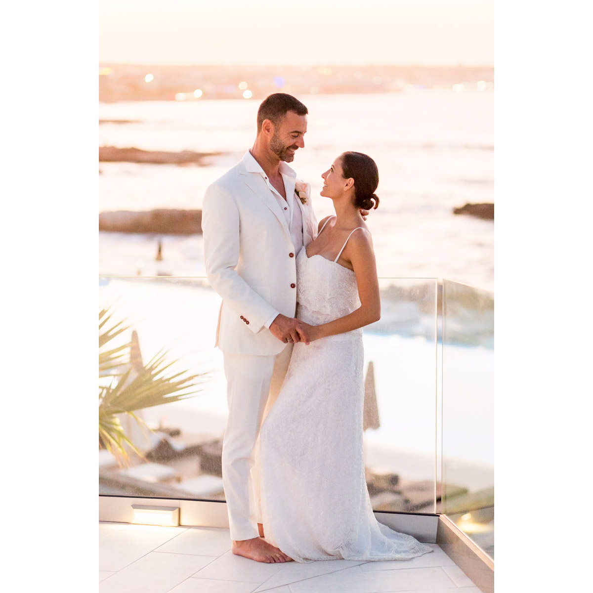 sunset portraits in Avaton wedding venue