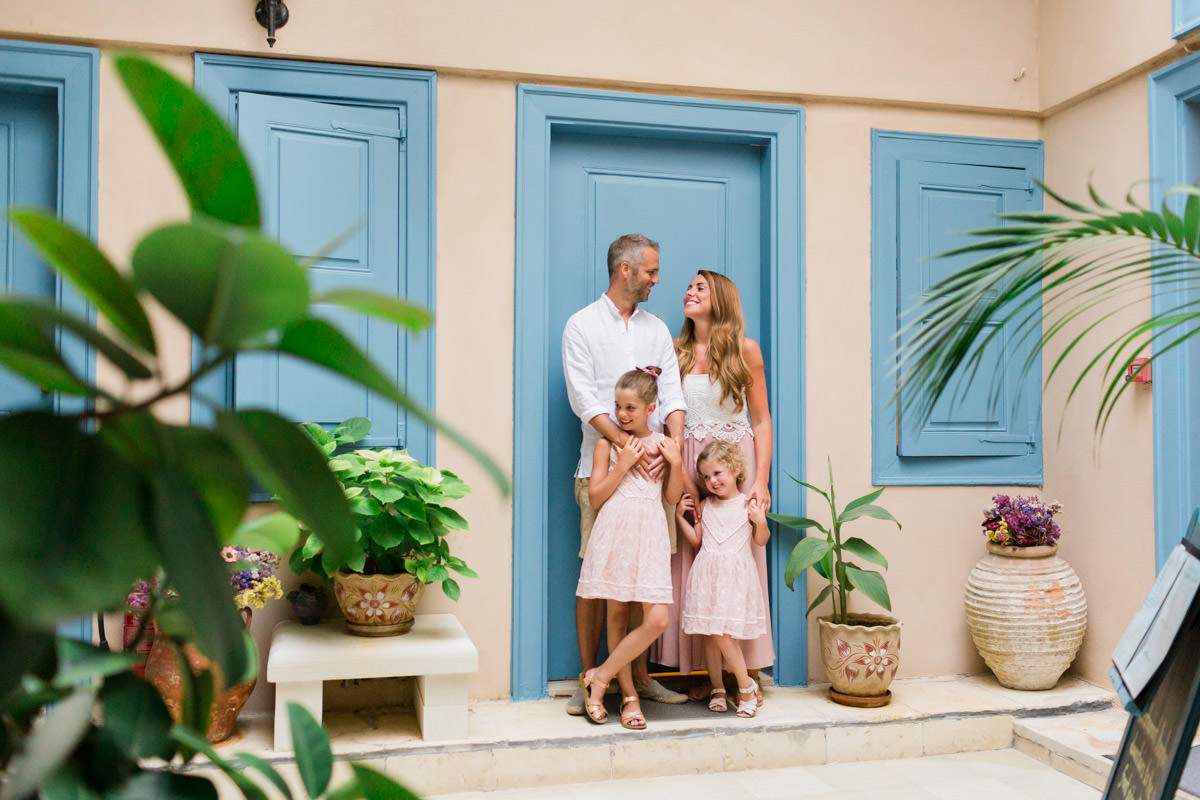 family photographer at a hotel in Chania