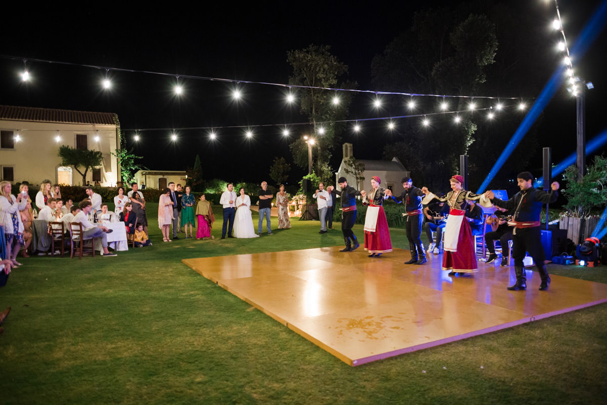 traditional wedding dance in Chania